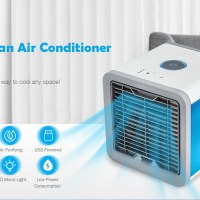 Mini Φορητό Arctic Air Cooler & Υγραντήρας 600ml με 7 LED Πολύχρωμο Φωτισμό ARC-001