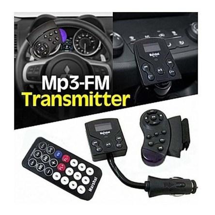MP3 Player FM Transmitter Αυτοκινήτου με Οθόνη LCD και Χειριστήριο στο Τιμόνι Marshal ME-191