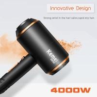 Επαγγελματικό Σεσουάρ Μαλλιών με Φυσούνα Kemei 3 σε 1 4000W με Τεχνολογία Ionic KM-8896