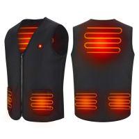 θερμαινόμενο Γιλέκο/Jacket USB Μοτοσυκλέτας Unisex Heated USB Motorcycle Vest