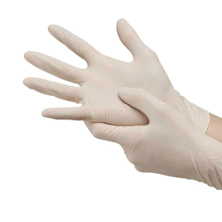 Γάντια Latex Μιας Χρήσης Ελαφρώς Πουδραρισμένα 10 Τεμάχια Large