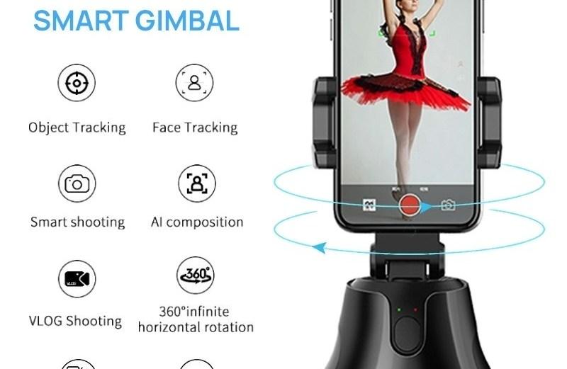 Ρομποτική Βάση Κινητού με Αυτόματη Ανίχνευση & Παρακολούθηση Προσώπου 360° Apai Genie
