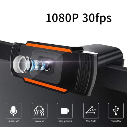 Web Camera 1080P HD 30fps με Μικρόφωνο X11