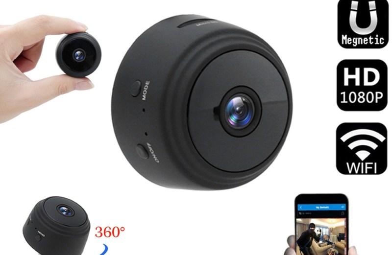 Mini Ασύρματη IP WiFi Κρυφή Κάμερα 1080P HD με Ανιχνευτή Κίνησης, Μικρόφωνο & Μαγνητική Βάση