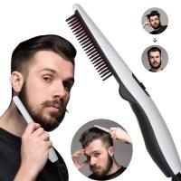 Ισιωτική Κεραμική Χτένα για Μαλλιά και Μούσια Man Styler V2