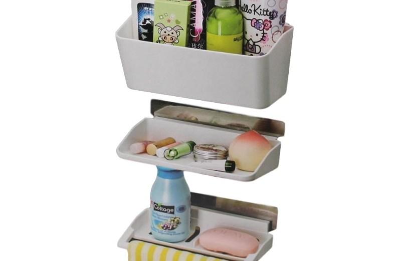 Αυτοκόλλητη Πολυλειτουργική Ραφιέρα Αποθήκευσης Μπάνιου Multifunctional Storage Rack 5055