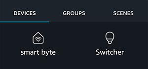 השלט מאפליקציית ברודלינק ברשימת המכשירים באלקסה