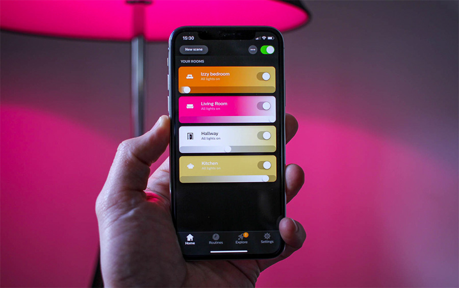 שליטה מלאה ממסך אחד, אפליקציית Philips Hue | תמונה: Pocket-lint