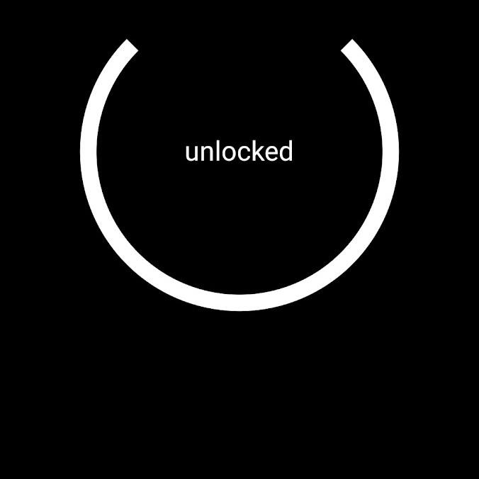 המנעול כאשר אינו נעול