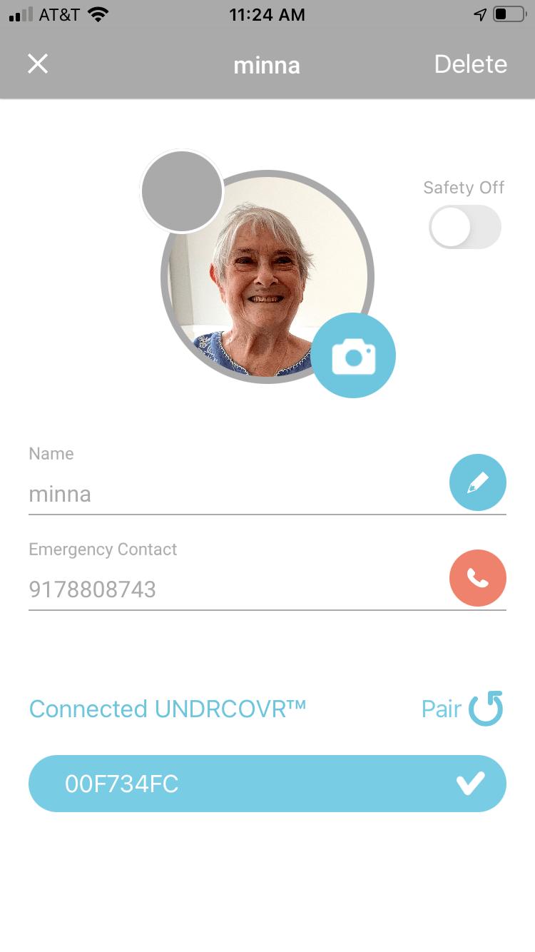 B'ZT UNDRCOVR Safety-off button