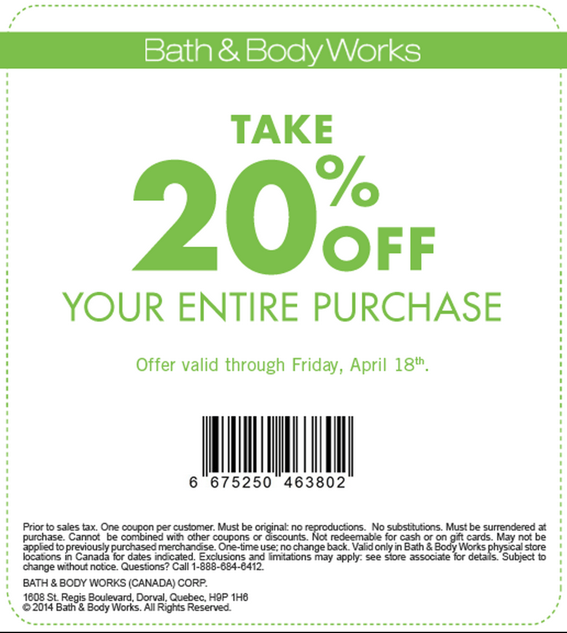 Coupons 2014 Body Feb Works Store Bath And