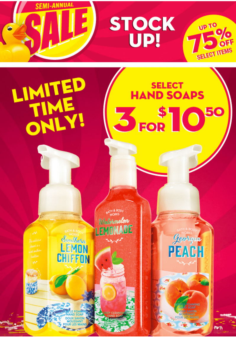 Bath 7 Body Works Coupons