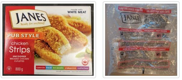 Food Recall Warning Janes Brand Pub Style Chicken Strips