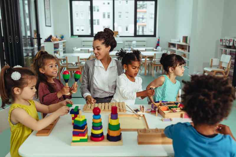 Woman running a daycare business