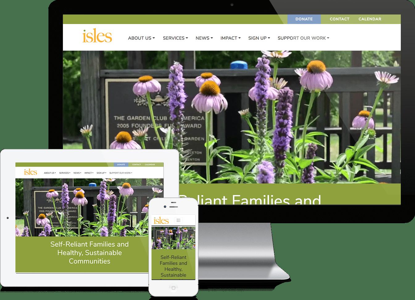 Isles, Inc. website