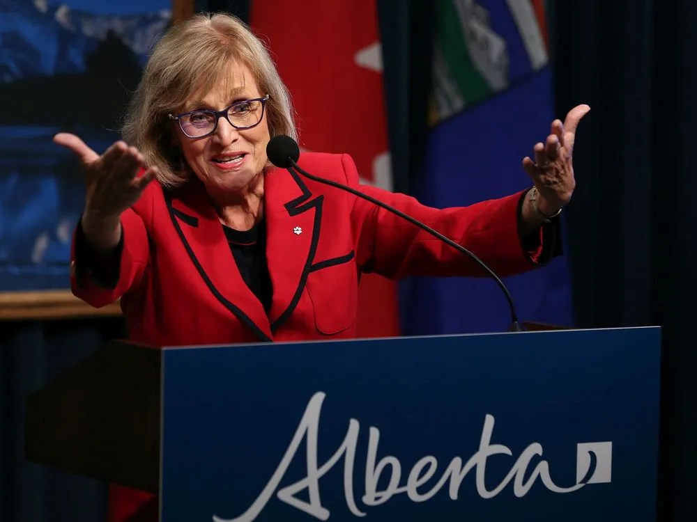 Former Saskatchewan finance minister Janice MacKinnon speaks on the report she chaired on the state of Alberta's finances at the McDougall Centre in Calgary on Tuesday September 3, 2019.  Gavin Young/Postmedia ORG XMIT: POS1909031312249967 ORG XMIT: POS1909031938350376