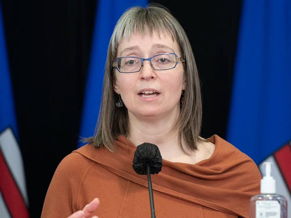 Alberta's chief medical officer of health Dr. Deena Hinshaw on Tuesday, Feb. 9, 2021.