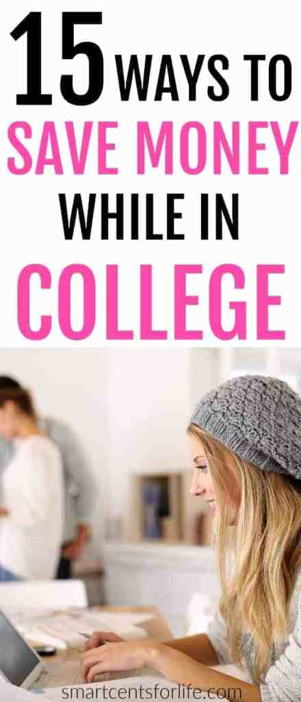 15 ways to save money while in college. Attending college can be expensive and this is why saving money in college is important. Here are 15 money saving tips that every college student should know. Learn how to manage your money efficiently, get the most out of your college student budget, and know the best tips and tricks to save money in college.