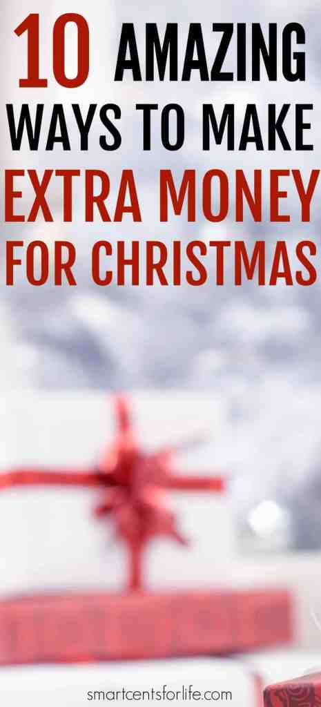 10 Amazing ways to make extra money for Christmas-Find out 10 super easy ideas that will help you make extra money for Christmas. Have a debt free Christmas with these money tips and ideas and enjoy the Holidays without going into debt! Learn how to save money for Christmas and also how to make money before Christmas. How to save money at christmas, christmas budgeting #Christmas #frugalliving #debtfree #savingmoney