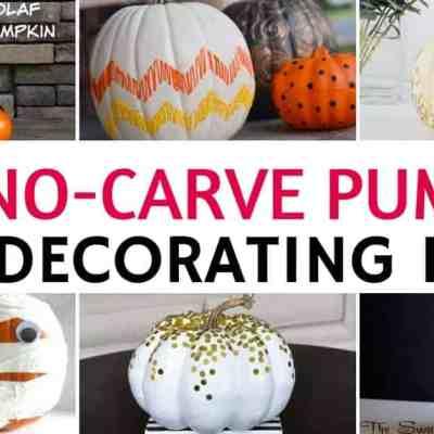 14 Easy DIY No-Carve Pumpkin Decorating Ideas