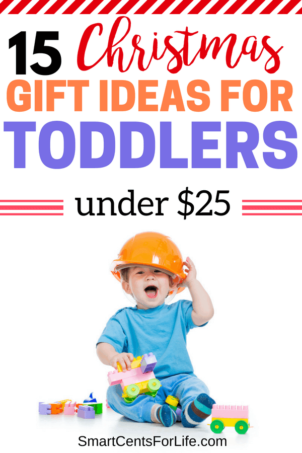 Check out these gift ideas for toddlers and kids under $25. Yes, you can have a fabulous Christmas with your family without breaking your budget! These inexpensive gift ideas will encourage imagination, creativity, and more! Kids and toddler gift ideas for Christmas main present, stocking stuffers, birthday gifts or any other occasion! Your little boy or girl will love!
