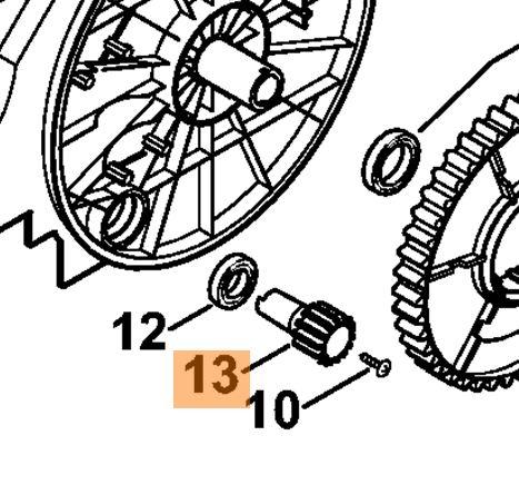 Зубчатое колесо (шестерня) для подметальной машины Stihl  KG-770, KGA-770 (48607311300)
