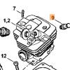 Декомпрессионный клапан STIHL для MS 311-441 7707