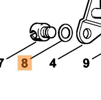 Шайба пальца карбюратора для мотокосы Stihl FS 38,45,55,56,70,87,90,94,120,130,250,300,350,400,450,490,560 (41371218600)