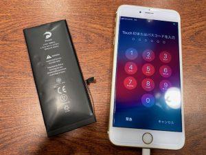 姉妹店修理速報 iPhone6S バッテリー交換