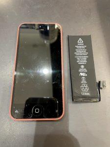 姉妹店修理速報 iPhone5C バッテリー交換