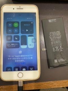 iPhone7plus バッテリー交換 【春日市からご来店】