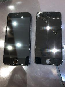 iPhone8 修理、ガラスコーティング