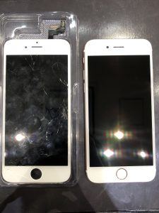 iPhone6の画面割れ修理