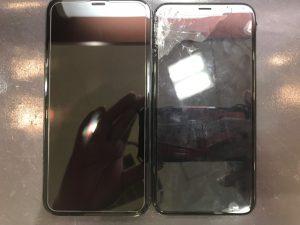 画面が割れてしまったiphoneXの修理
