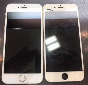 iphone6sの画面割れとバッテリーの交換修理