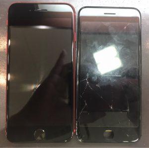 iphone8の画面割れ修理