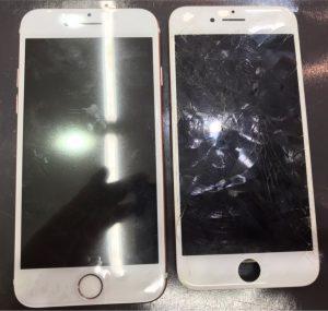 iphone7の画面割れ修理