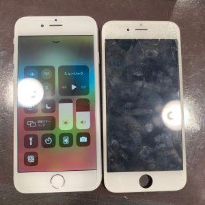 iphone アイフォン 6s 6s 画面 ガラス 割れ バキバキ 破損 壊れた 修理 最短 データ