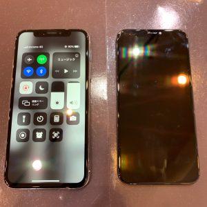 iPhone アイフォン X 画面 液晶 パネル タッチ 操作 故障 不能