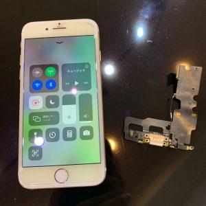 充電口にケーブルが折れて残ってしまったiPhone7