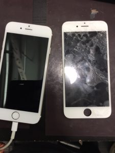 ガラス割れ交換修理をしたiPhone6