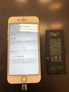 iPhone7バッテリー交換