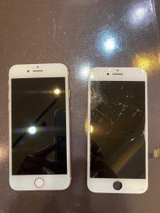 フロントガラス交換修理を行ったiPhone8
