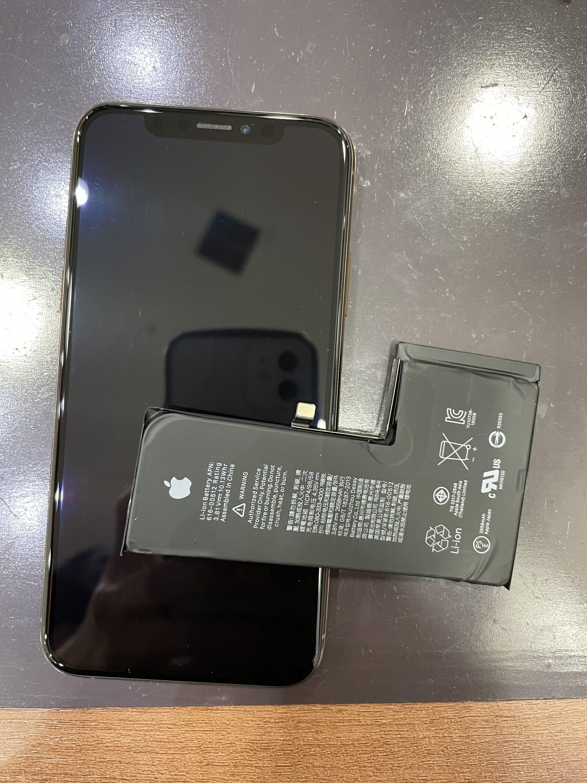 電池の減りが早いiPhoneXSのバッテリー交換😊 【関市からお越しのお客様】