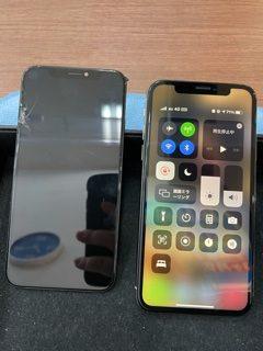 画面割れは大小にかかわらず、お早めにお修理を!/画面交換/iPhoneX