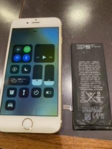 姉妹店修理店 iPhone6 バッテリー交換