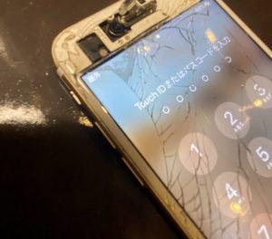 iPhone7 内部丸見え修理 北区からご来店