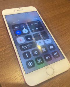 iPhone7画面割れお直し前