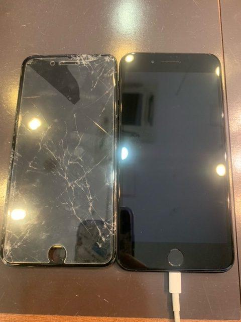 iPhone7+の画面修理致しました【北区よりお越しのお客様】