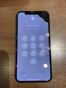 iPhoneXS液晶漏れ修理前